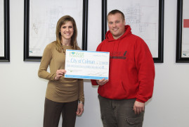 Colman upgrading meters, receives grant