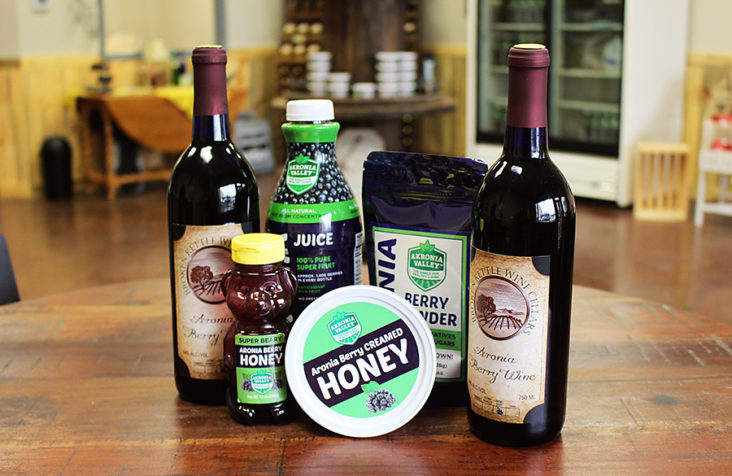 Akron ripe with aronia berry business