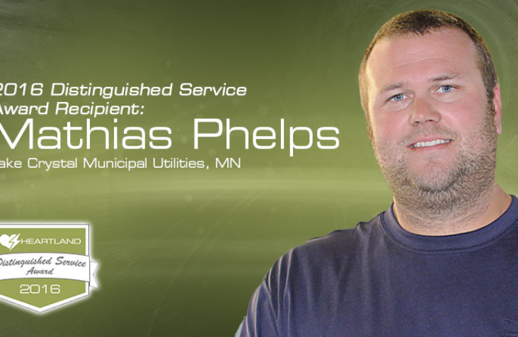Phelps honored with Distinguished Service Award