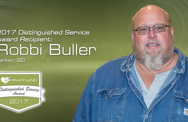 Buller honored with Distinguished Service Award